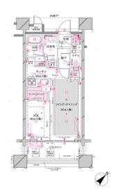 オーパスレジデンス銀座イースト7階Fの間取り画像