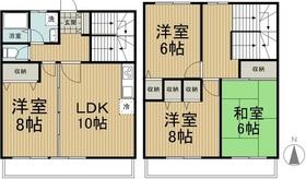 ハウスコヤマ1-2階Fの間取り画像