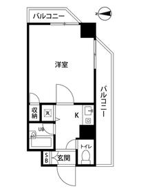 横浜駅 徒歩11分5階Fの間取り画像