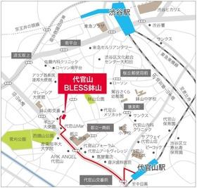 代官山BLESS鉢山案内図