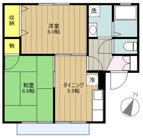 ボーヌファム2階Fの間取り画像