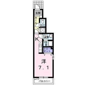 柴崎体育館駅 徒歩13分1階Fの間取り画像