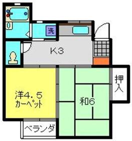 2番館2階Fの間取り画像