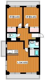 グレイスコート三園2階Fの間取り画像