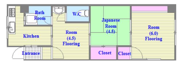 コンラッド長瀬 和室のあるゆったりした間取です。一度ご覧ください。