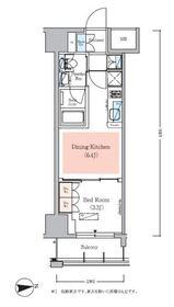 アーバネックス秋葉原EASTⅢ6階Fの間取り画像
