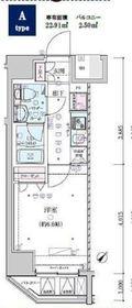 ジェノヴィア横濱関内スカイガーデン11階Fの間取り画像