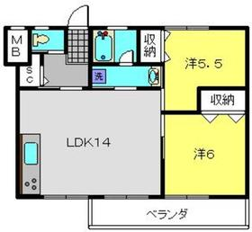 磯子駅 徒歩21分4階Fの間取り画像