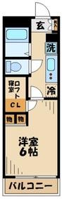 レオパレスアクセス登戸2階Fの間取り画像