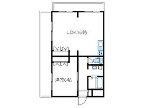 平和ビルマンションさがみはら3階Fの間取り画像