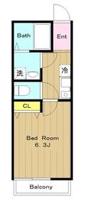 カインドネス鶴川2階Fの間取り画像