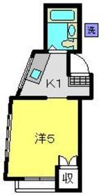 浅田ハイツ2階Fの間取り画像