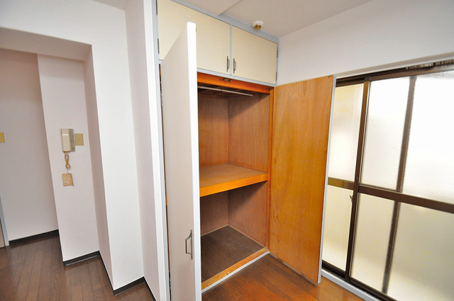 フローラ ラポルテ もちろん収納スペースも確保。お部屋がスッキリ片付きますね。