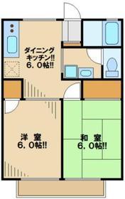 コーポ田中嶋22階Fの間取り画像