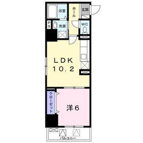 TS レガシア4階Fの間取り画像