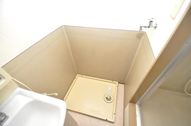 サンビレッジ・デグチ 洗濯機置場が室内にあると本当に助かりますよね。
