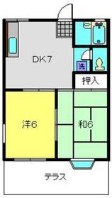 ルミエール永田1階Fの間取り画像