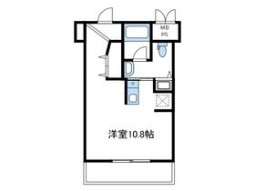 ベルポスト1階Fの間取り画像