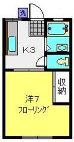 べるハイツ2階Fの間取り画像