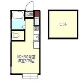 Axia Court Kishiya1階Fの間取り画像