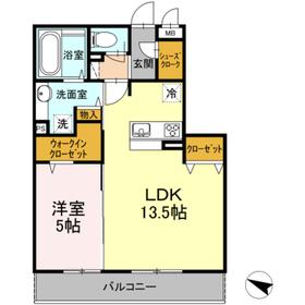 ロイヤルパークス石田3階Fの間取り画像
