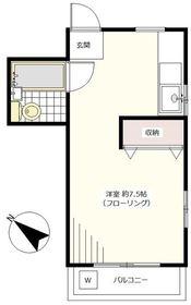 桜町斉藤ビル3階Fの間取り画像