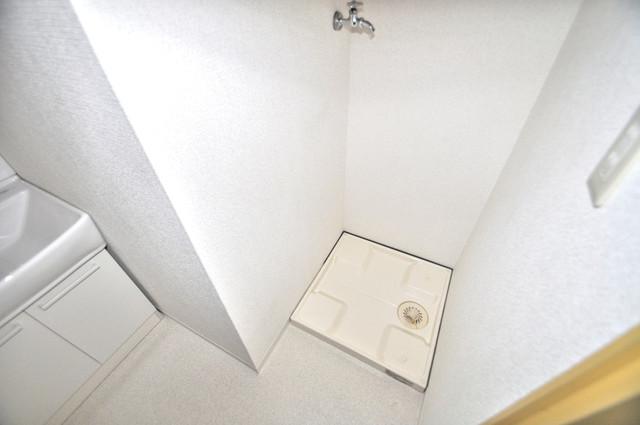 メダリアン巽 嬉しい室内洗濯機置場。これで洗濯機も長持ちしますね。