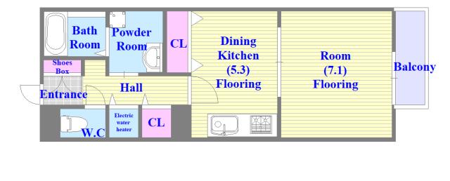 ラヴィ・クレール シンプルな住み心地を実感できる素敵な間取りになってます。