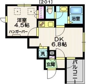 (仮称)三田2丁目メゾン2階Fの間取り画像