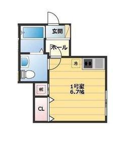 FORTUNA YOKOHAMA3階Fの間取り画像