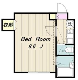 ラ・シャンス東橋本第3 1号棟2階Fの間取り画像