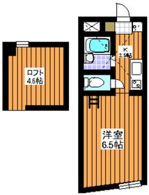 メゾンオトメ2階Fの間取り画像
