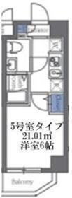 エルスタンザ大口(エルスタンザオオグチ)4階Fの間取り画像