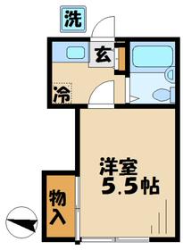入谷駅 車13分4.5キロ2階Fの間取り画像