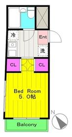 登戸駅 徒歩7分2階Fの間取り画像