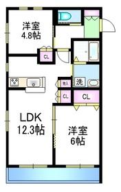 グランディール上福岡Ⅰ1階Fの間取り画像
