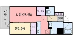 RJRクオーレ六本松9階Fの間取り画像