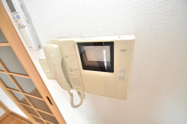 ロータリーマンション長田東 モニター付きインターフォンでセキュリティ対策もバッチリ。