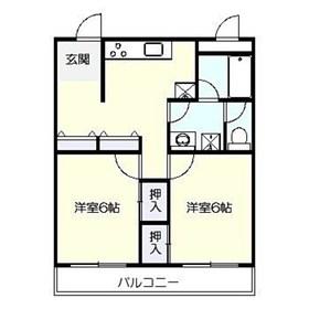パークテラス鎌倉岡本4階Fの間取り画像