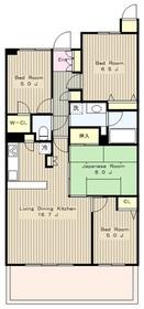 エルフィーノ鶴川パークヒルズ4階Fの間取り画像