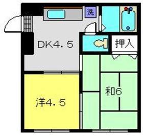 YSハウスA棟1階Fの間取り画像