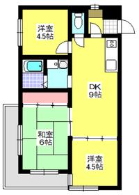 成増駅 徒歩27分4階Fの間取り画像