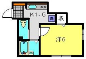綱島駅 徒歩27分2階Fの間取り画像
