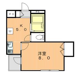 ロータスガーデン2階Fの間取り画像