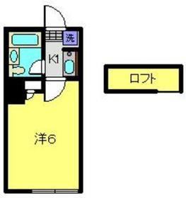 ヴィラ・イワタ1階Fの間取り画像