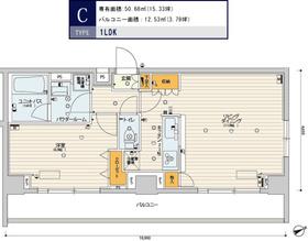 スカイコートパレス芝浦7階Fの間取り画像