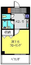 メゾンドブラン2階Fの間取り画像