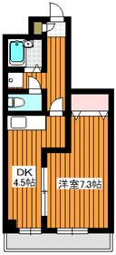 ミナミマンション4階Fの間取り画像