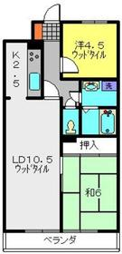 武蔵中原駅 徒歩5分5階Fの間取り画像
