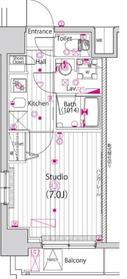 ガーラ・ステージ横濱関内9階Fの間取り画像